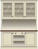 Open Shelves & Full Height Base Cupboards