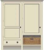 with Doors, Drawers & Wicker Baskets