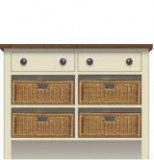 Wicker Basket Cupboards