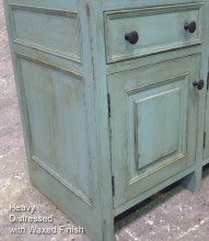 Heavy Distressed & Waxed Finish